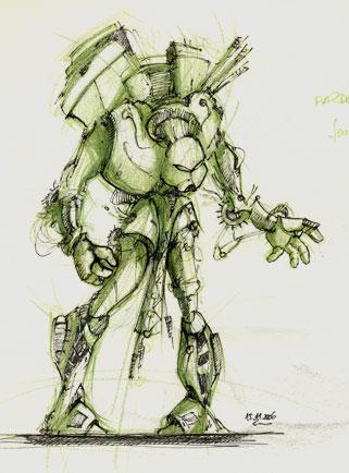 liner, creion verde
