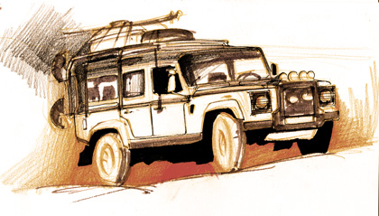 Inegalabilul Land Rover Defender :)