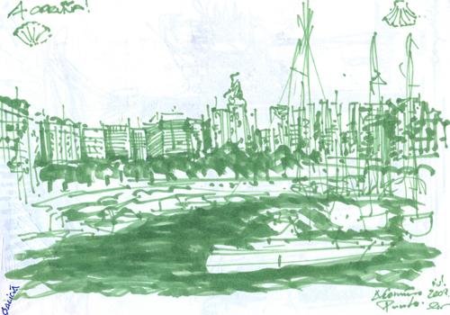 marker verde