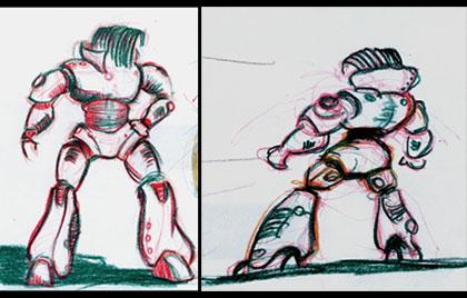 creion colorat / nervi :)