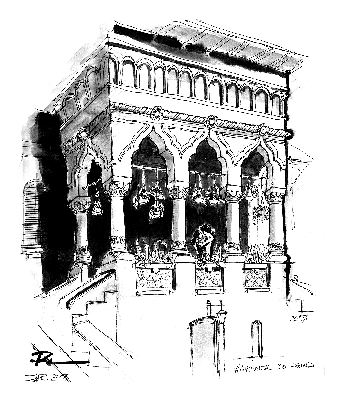 House of Sun – Bucur, 21x30cm ink on paper, 70€