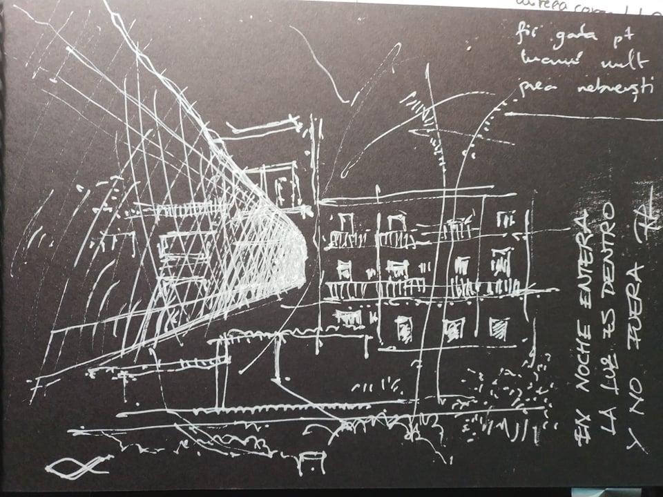 """Noche Entera"" series 2020, 15x21cm white ink on black paper, 200€/each"