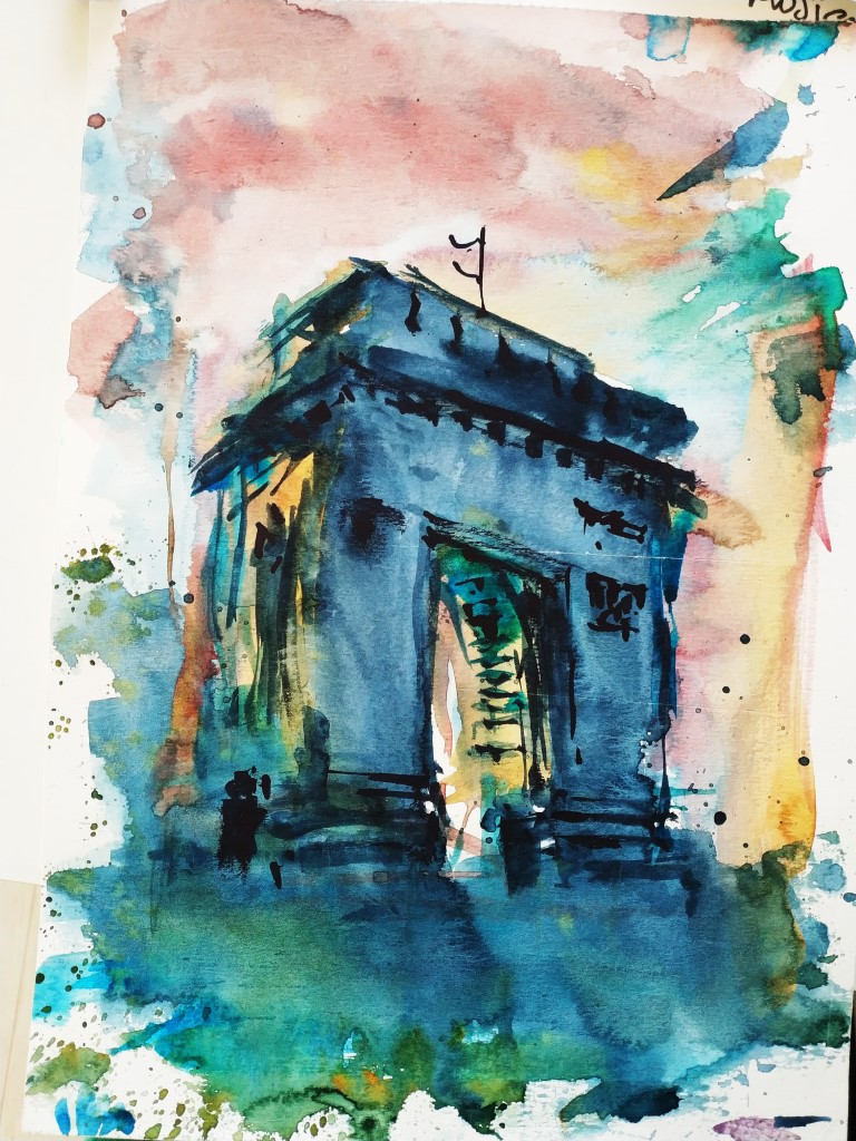 Arch of Triumph – Bucharest, 21x29cm watercolour