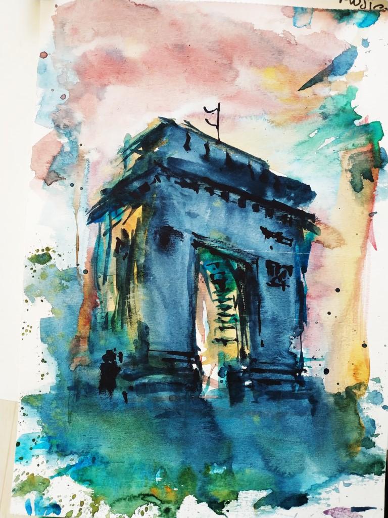 Arch of Triumph – Bucharest, 21x29cm watercolour, 100€