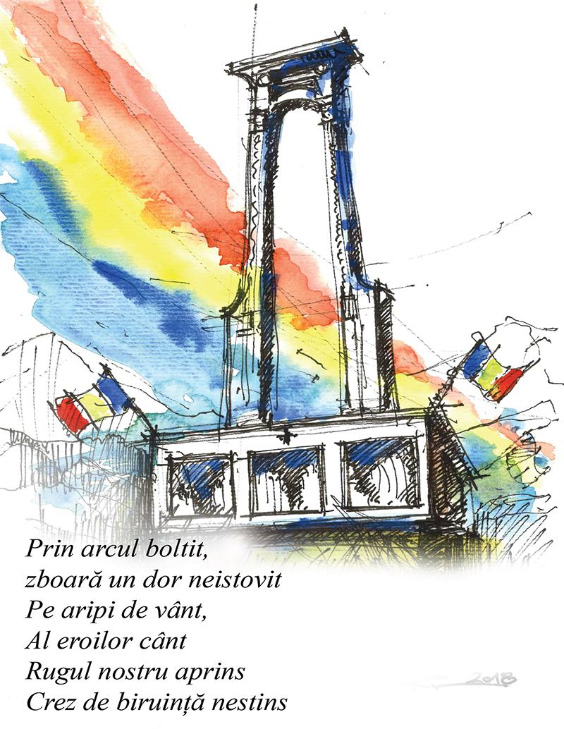 Cornu – Prahova, 21x29cm Watercolours, poems (Ro), 70€/pc.