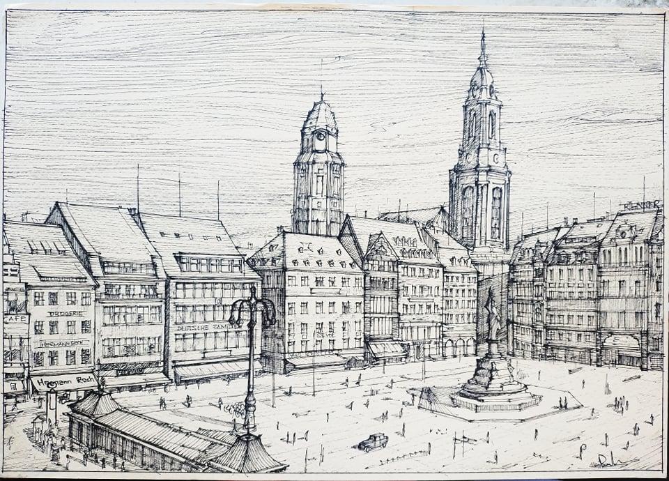 Dresden, 21x29cm black ink, 200€