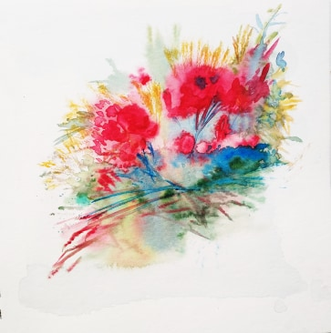 Flowers of Dawn,19x20cm watercolour, 160€