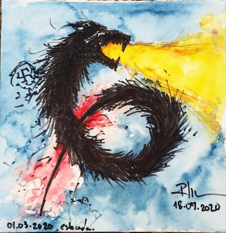 6 / 2 Estocada, 42x42cm watercolour on paper, 100€