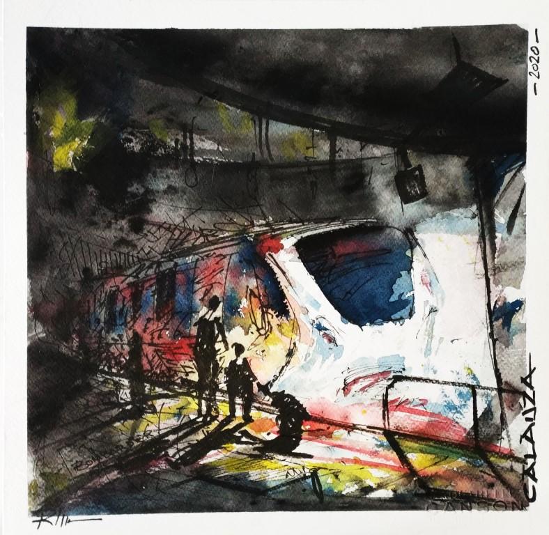 STALKER, 42x42cm watercolour on paper, 200€