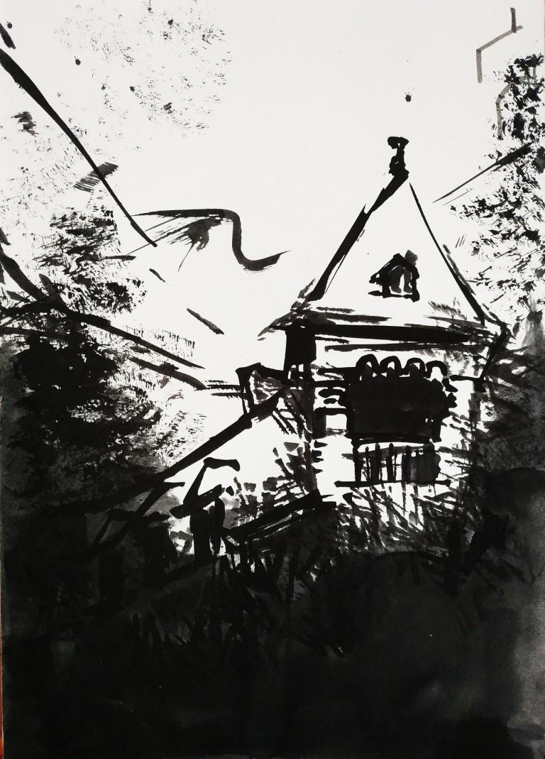 Back in Black, 21x29cm ink on paper, 50€