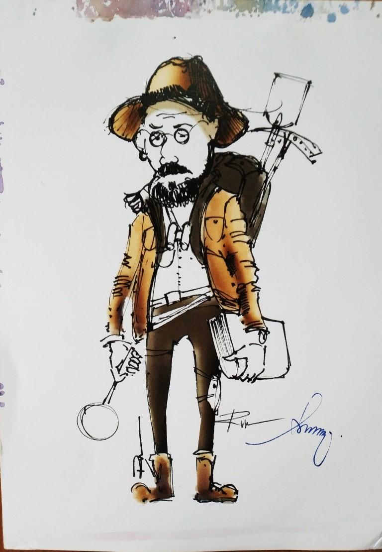 Roman, The Adventure. 10x18cm ink on paper (digital)