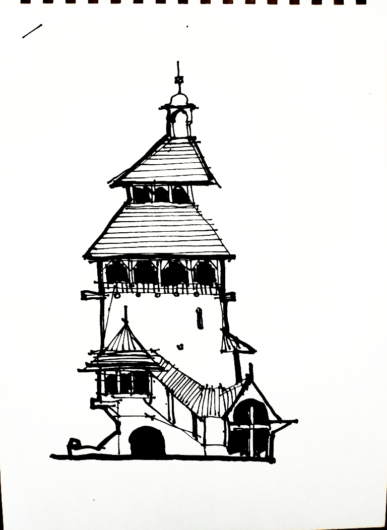 Flux Pavilion, 12x18cm ink on white paper, 60€
