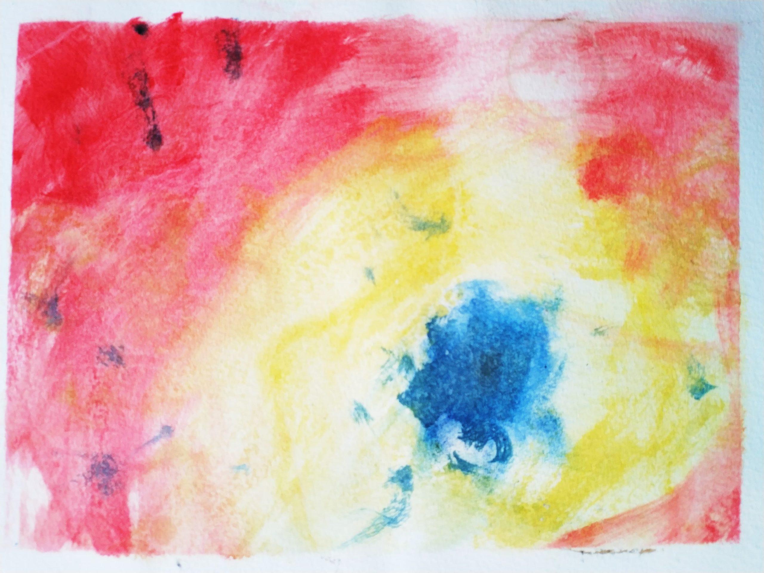 OUG13-Implosion, 20x28cm watercolour, 200€