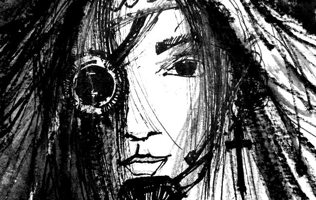 She-Wolf, 15×21 cm black ink, 60€