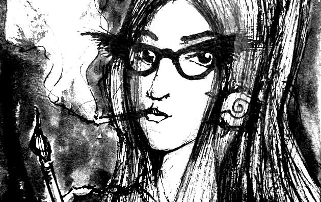 Wicked Temptress, 15x21cm black ink, 60€