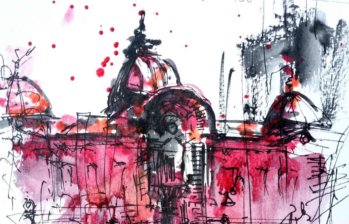 CEC TWO, 15x21cm Watercolour, 2020, 60€