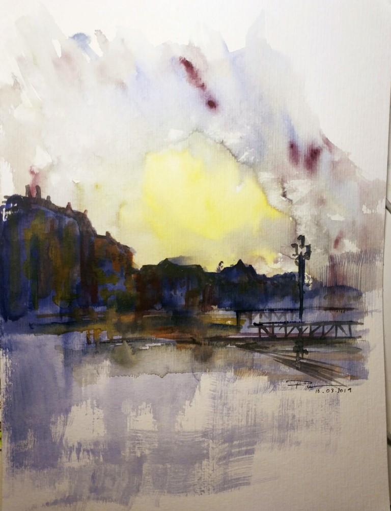 Death in Venice, 24×32 watercolour, 50€