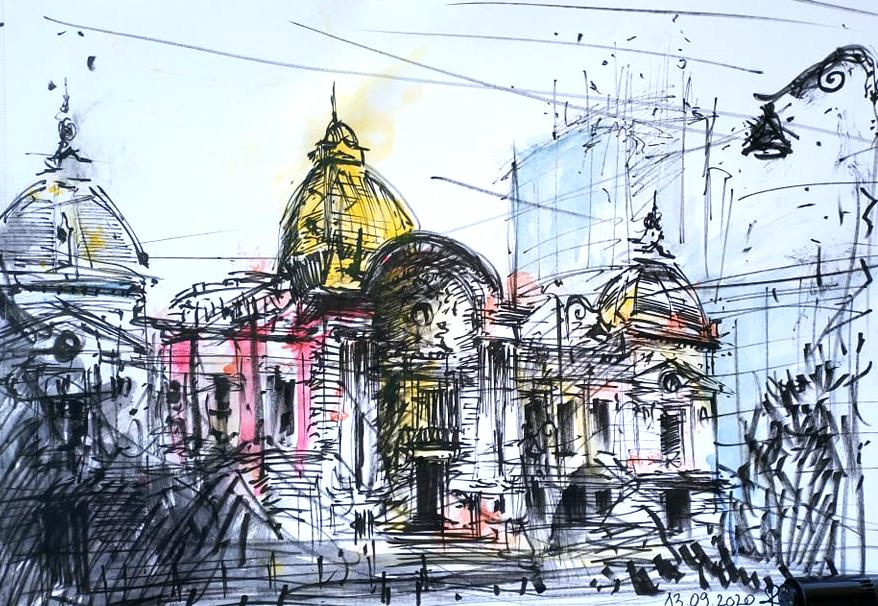 CEC ONE, 29x42cm watercolour, 2020, 100€