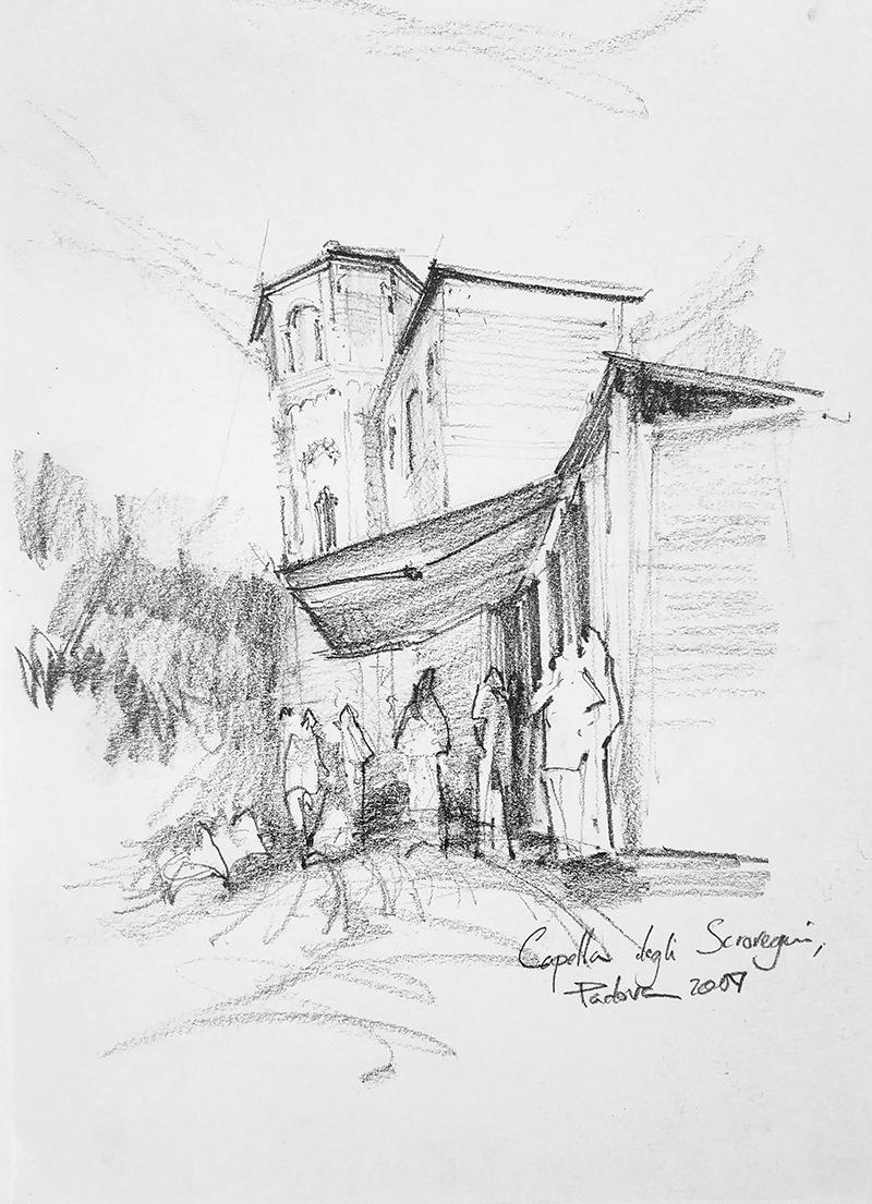 Cappella degli Scrovegni, 21x29cm pencil, 2007, 150€