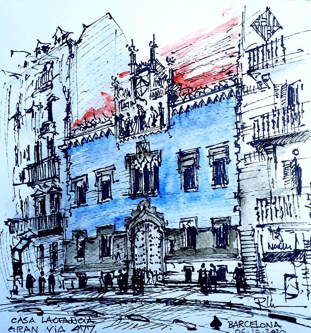 La Casa de Lactancia – Barcelona, 20x20cm watercolour, 40€