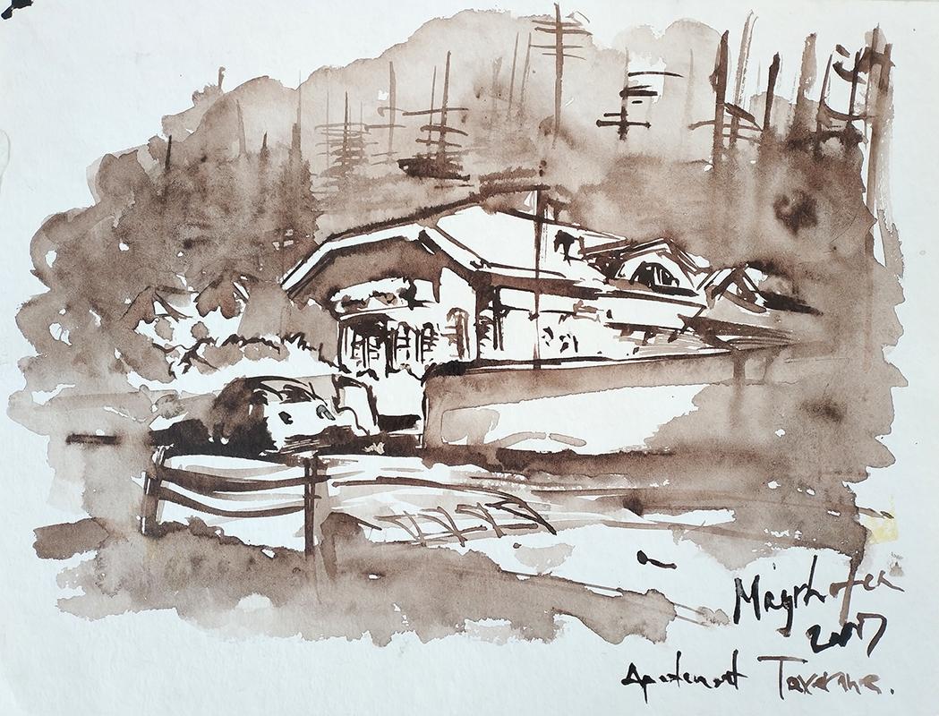 Mayrhofen Hintertux 2007, watercolour 21x29cm, 200€