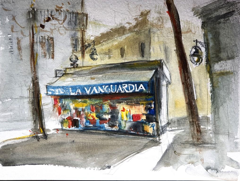 La Vanguardia, Barcelona – watercolour 30x40cm, 140€