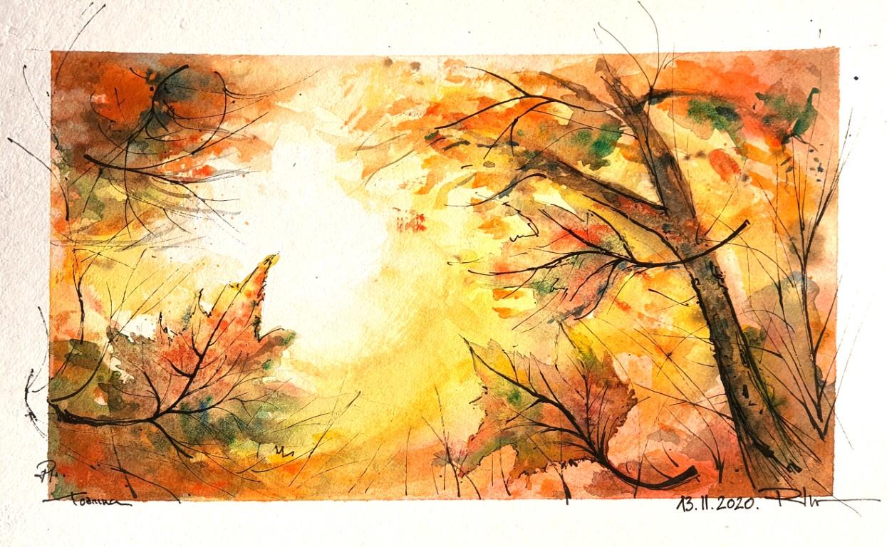 Cruel Autumn, 20x30cm watercolour 80€/pc.