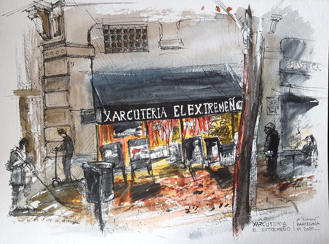 Xarcuteria El Extremeño, 30x40cm watercolour, 80€