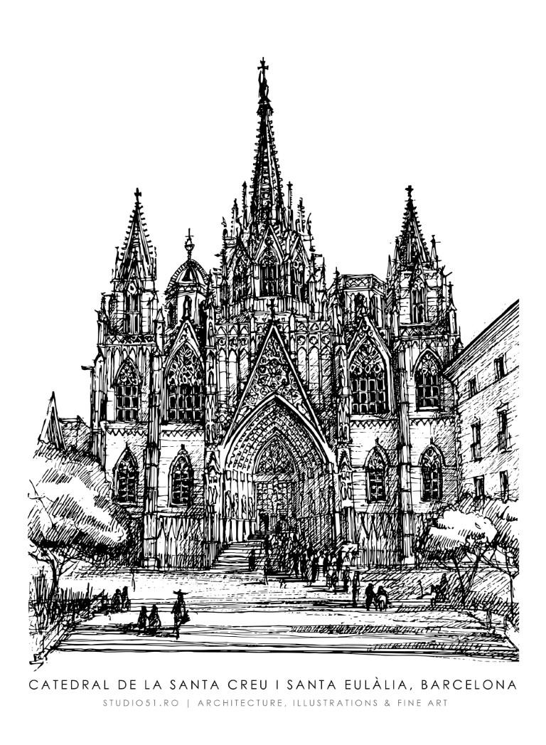 Catedral de Barcelona, 21x30cm, 2021, 100€