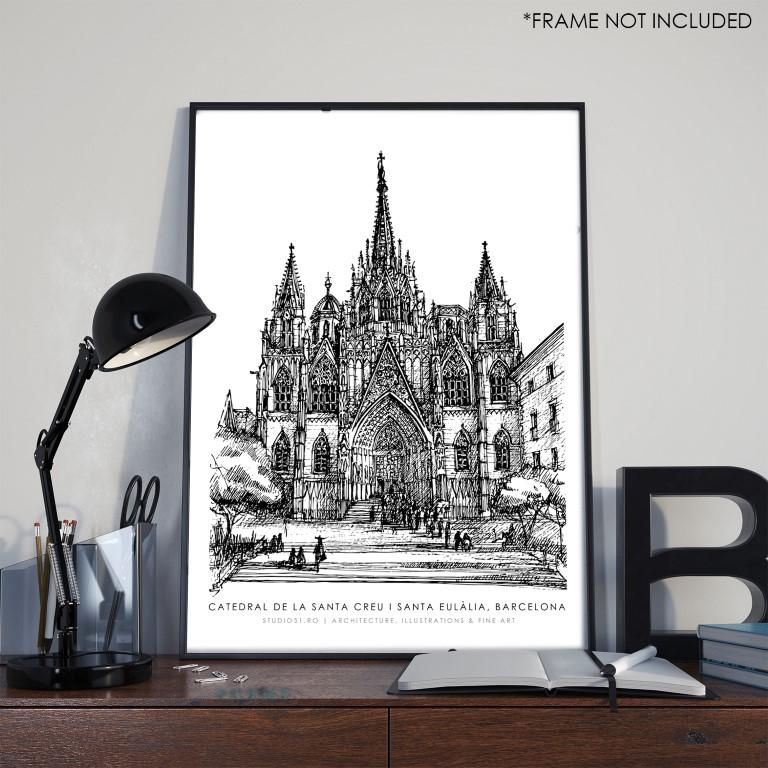 Catedral de Barcelona, ink on paper 2021, 21x29cm [ 150€ ]