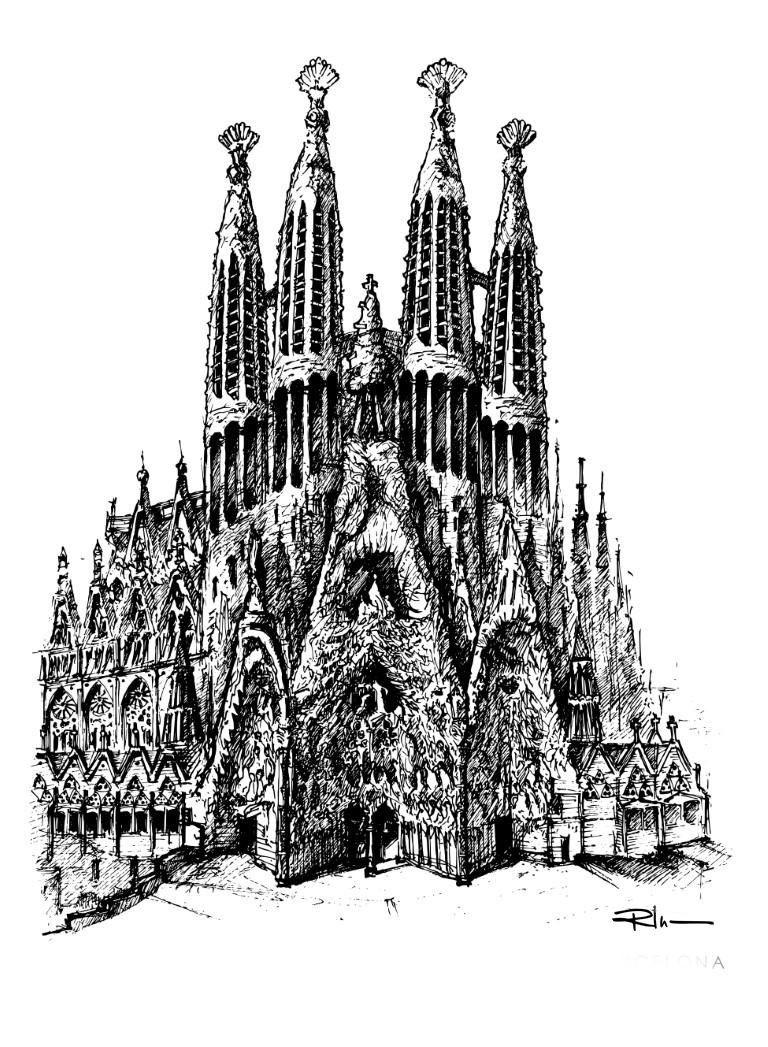 Sagrada Familia (Medium) ed