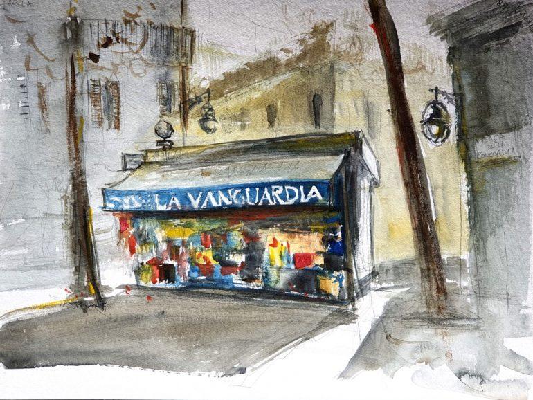 La Vanguardia, Barcelona, A3 watercolor 2020 [ 125€ ]