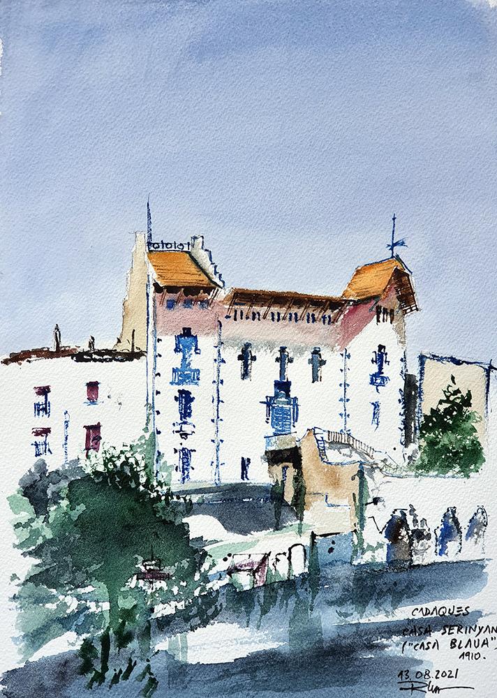 Cadaques : Casa Blava, 2021, Watercolor, 38x58cm [ 180€ ]